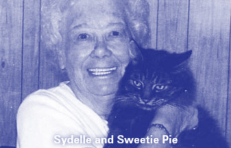 Sydelle and her cat, Sweetie Pie